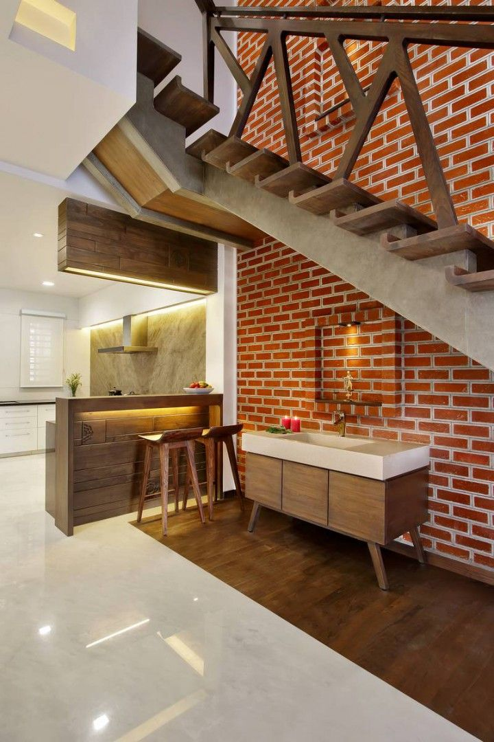 Best Nitya Bungalow – A T Associates Staircase Design Stairs 400 x 300