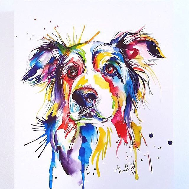 The Etsy Top Sellers Ranked On Instagram Absolutely Stunning Pet Portraiture By Shaunna Russell The Watercolor Pet Portraits Watercolor Dog Pet Portraiture