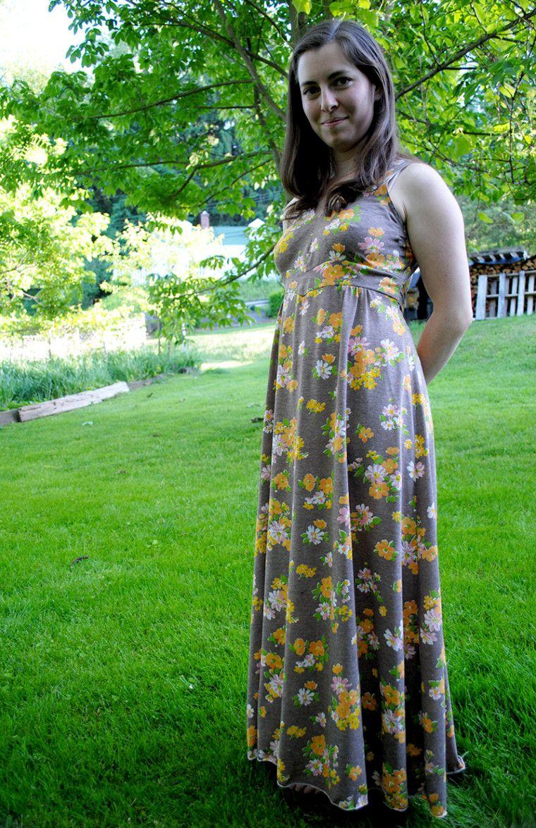 upcycled maxi dress