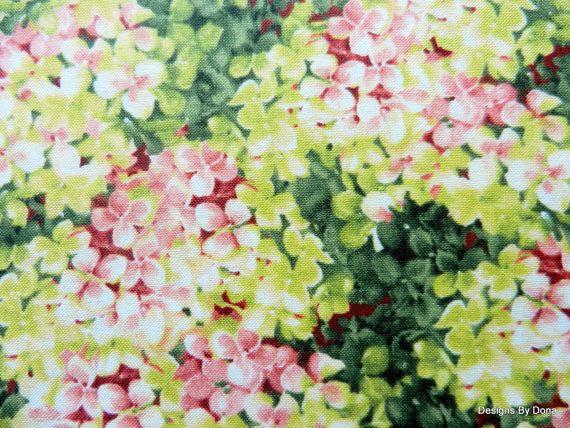 Fabric Pink Hydrangea Marche de Fleurs by Lisa by DesignsByDona ... : hydrangea quilt fabric - Adamdwight.com