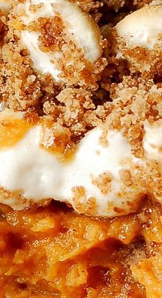 Sweet Potato Casserole with Marshmallows and Cinna