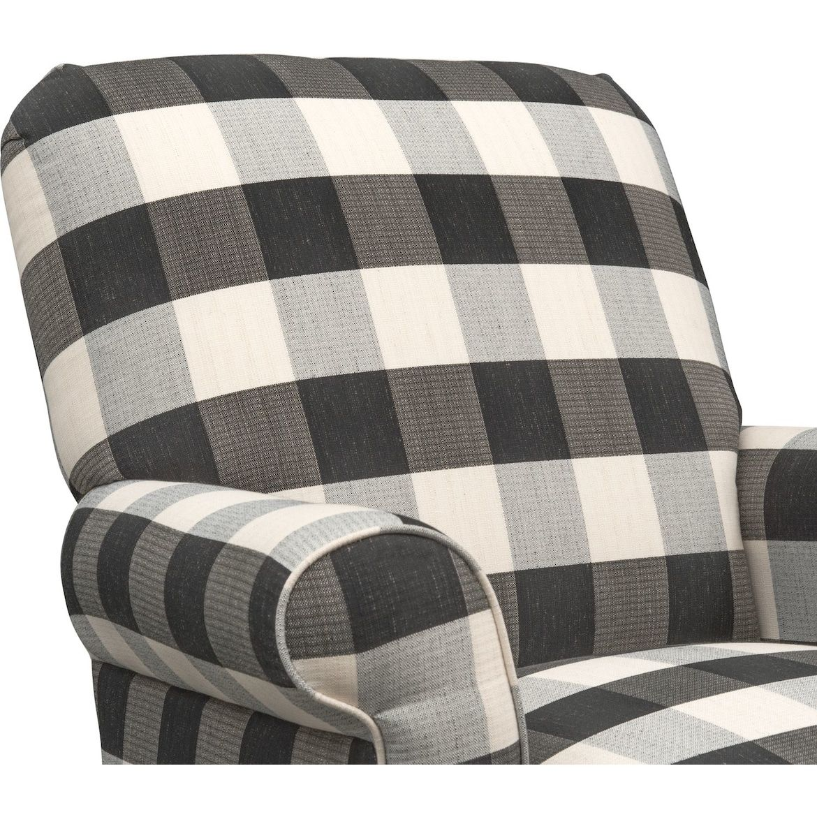 Best Rhys Accent Chair Black And White American Signature 400 x 300