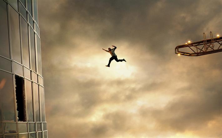 Download Wallpapers Skyscraper 2018 Poster New Movie Dwayne Johnson Will Sawyer Besthqwallpapers Com Films Gratuits En Ligne Film Avengers Film