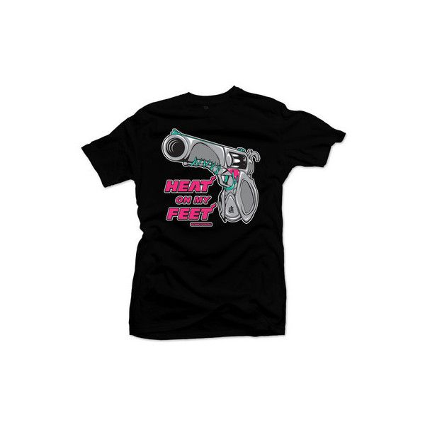 BOBBY FRESH HEAT ON MY FEET SHIRT TO MATCH LEBRON 9 SOUTH BEACH SHOES ❤ liked on Polyvore