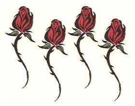Tribal rose vine tribal long stemmed rose bud tattoos for Long stem rose tattoo