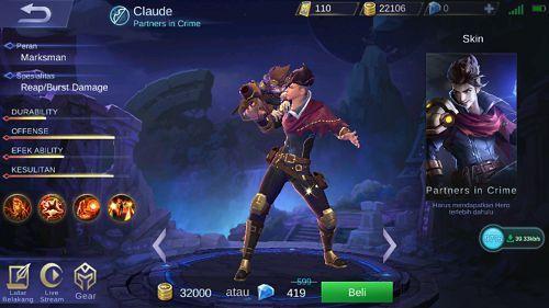 Image result for claude mobile legends