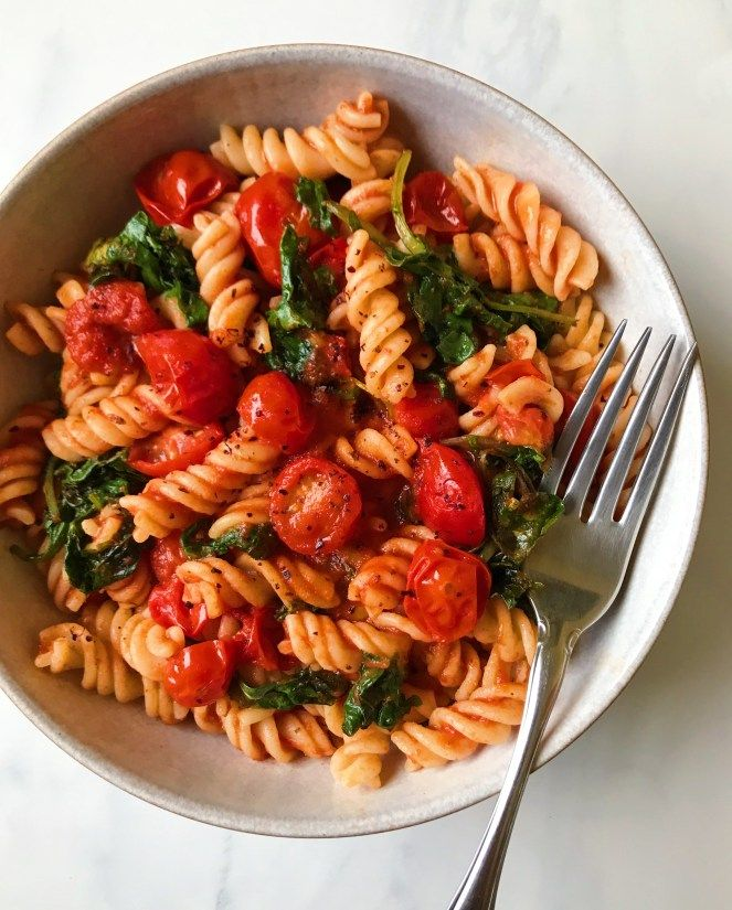 Hearty Kale and Marinara Pasta #healthyfood