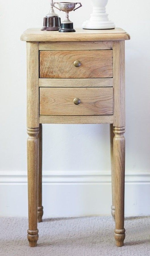 Oak Bedside Table Small