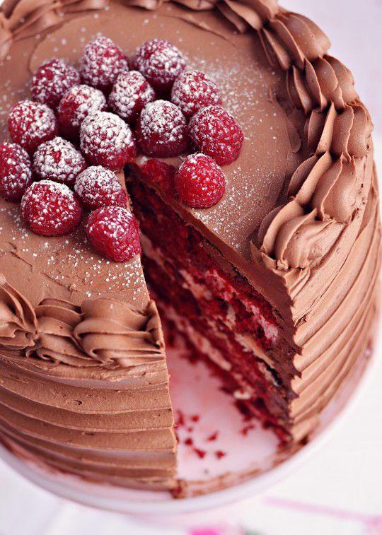 Red Velvet Raspberry Supreme Cake Recipe With Images