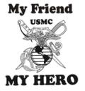 My Friend My Hero Hoodie Marine Corps #myfriend #usmc #marinecorps #myhero #marinehero #friend #hero