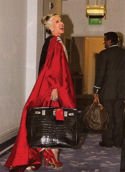d9ff7a13531 DG with a huge croc birkin...amazing! | Bag Lady | Daphne guinness ...