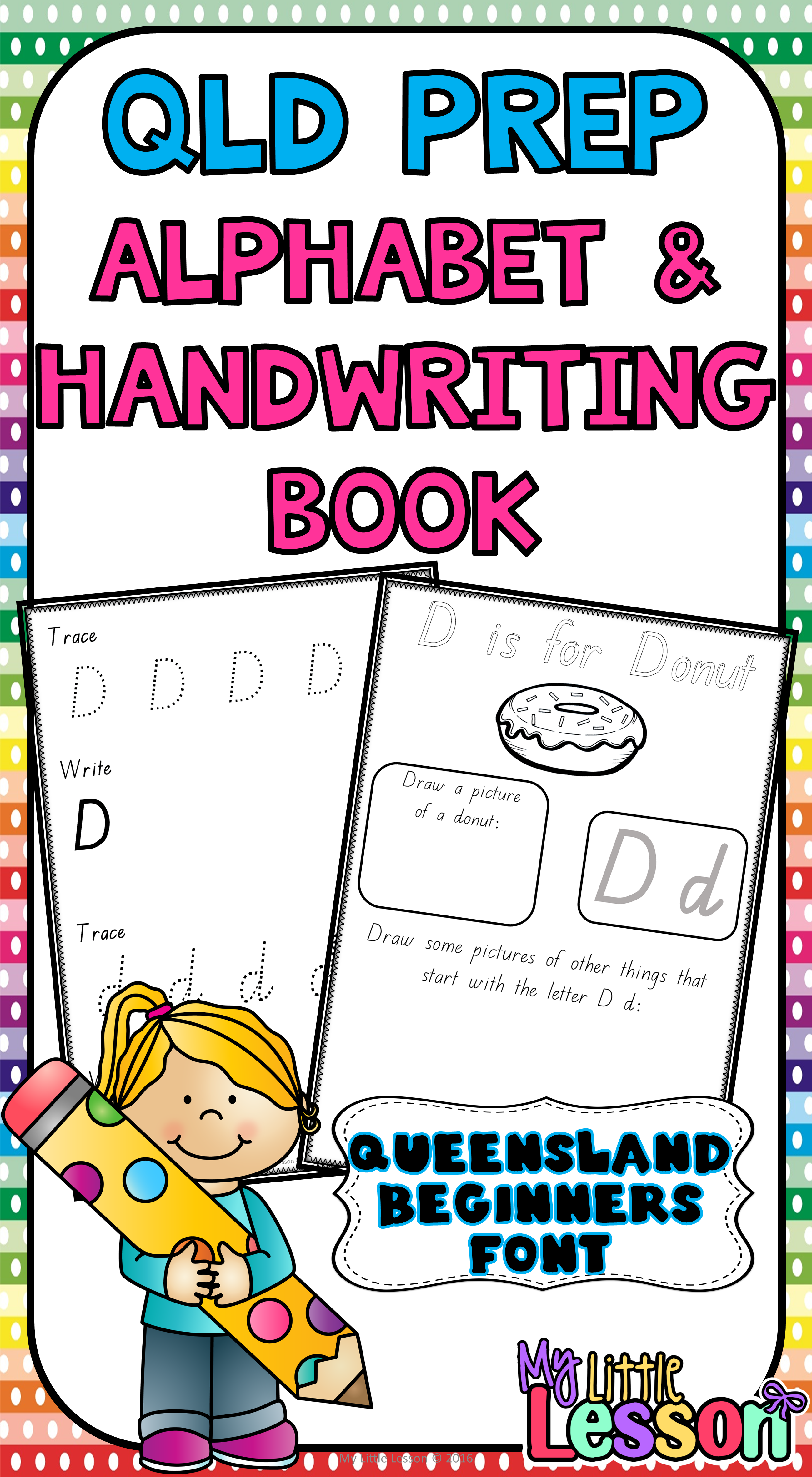 Alphabet And Handwriting Book