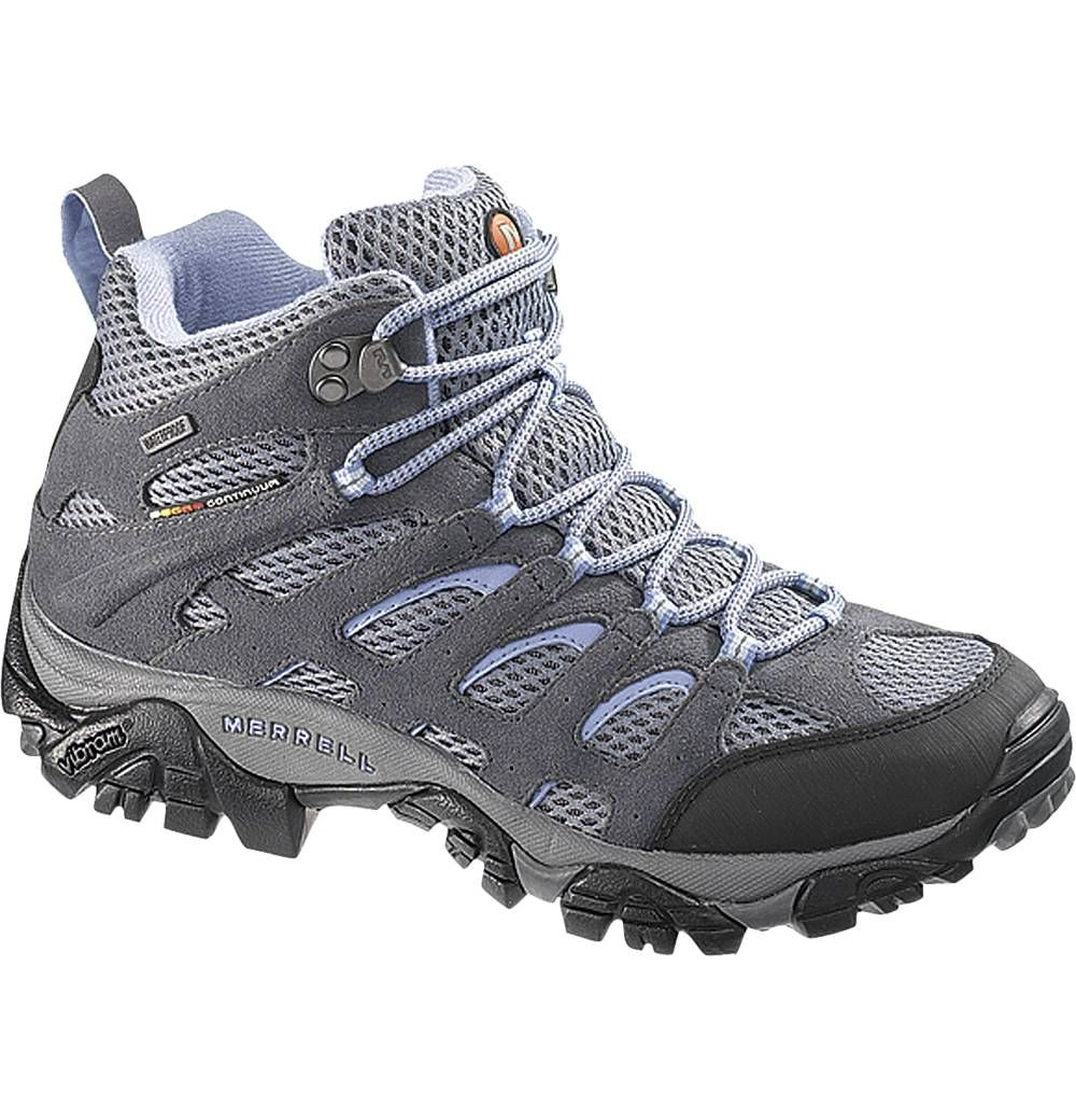 Ladies  Hiking Boots – Order the Women s Moab Mid Waterproof Boot from  Merrell - J88792. size 9 5d870e8b99be