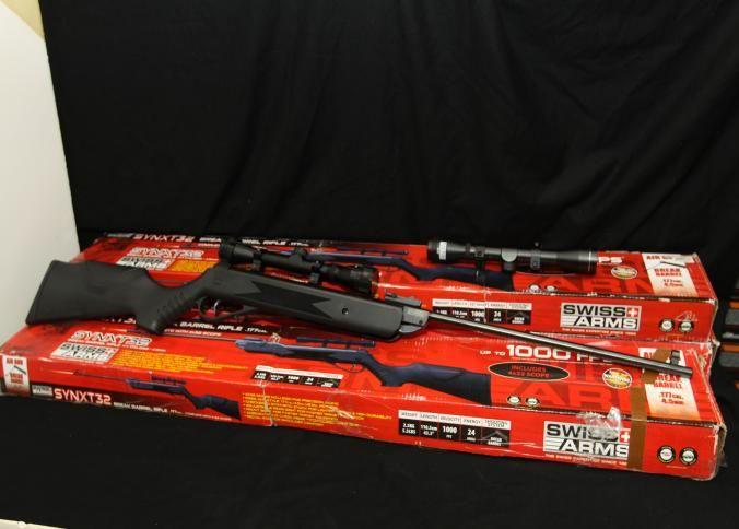 Three Swiss Arms Synxt32 break barrel air guns  177 cal 4 5