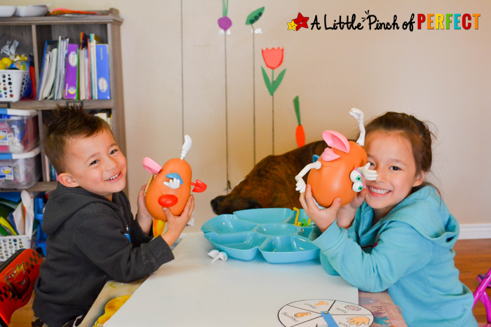 Learning about the 5 Senses Potato Head Game and Free Printable: All you need is…