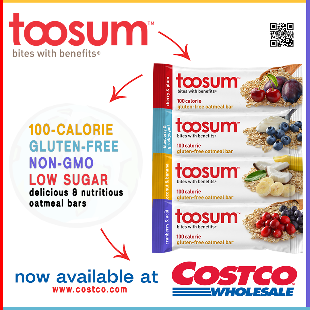Make sure to grab your Toosum 100calorie, glutenfree