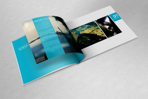 A4 Landscape Book Mockups | Mockup and Brochures