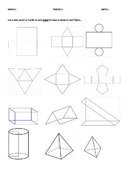 12 nets of 3d shapes amp stepbystep how to calculate - 271×350