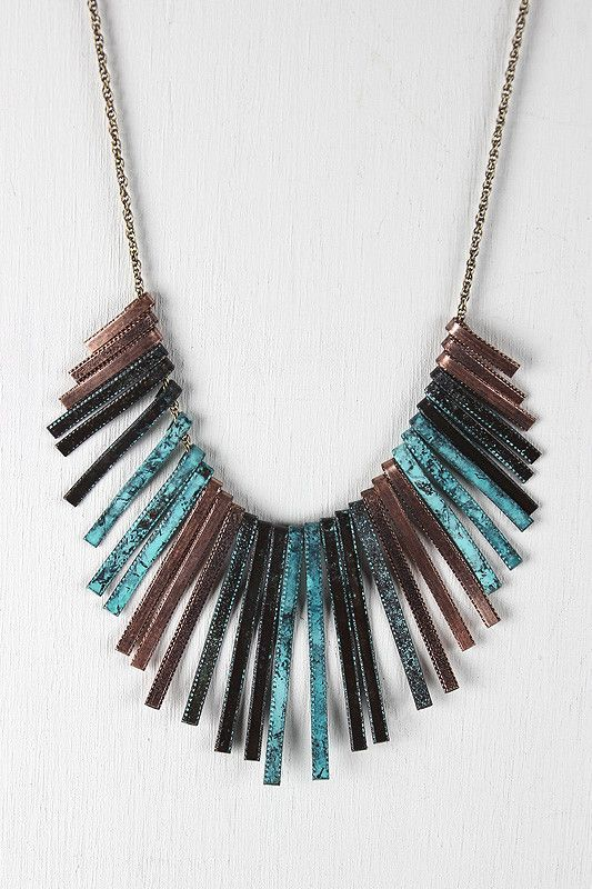 Curved Wave Bib Necklace - Bronze Multi  Description This  necklace  features a necklace with squared spikes painted...   https://nemb.ly/p/EyExr3WWrae