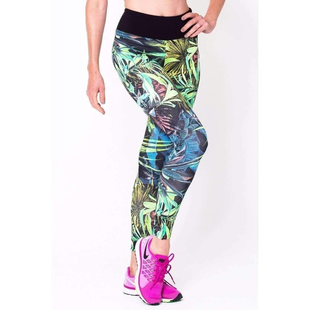 Botanical Print Leggings Printed leggings, Active wear