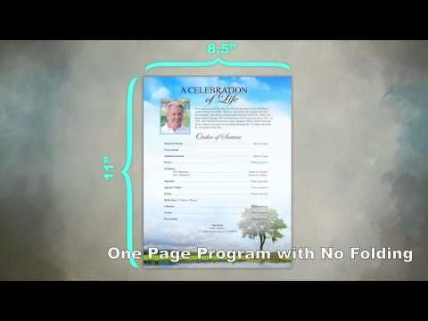 Video on creating a Funeral Flyer Sheet quickly and easily using