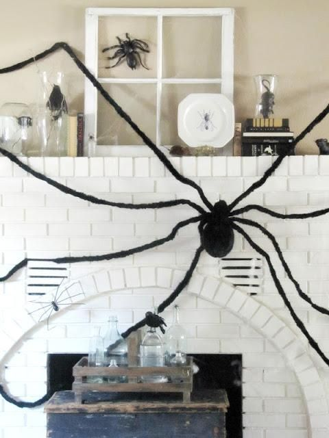Mantel Decorations  IDEAS  INSPIRATIONS  Creepy Crawly Halloween