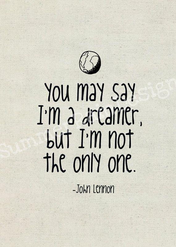 John Lennon Song Lyrics Print