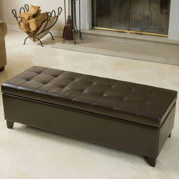 Costco Fulham Bonded Leather Storage Ottoman Storage Ottoman