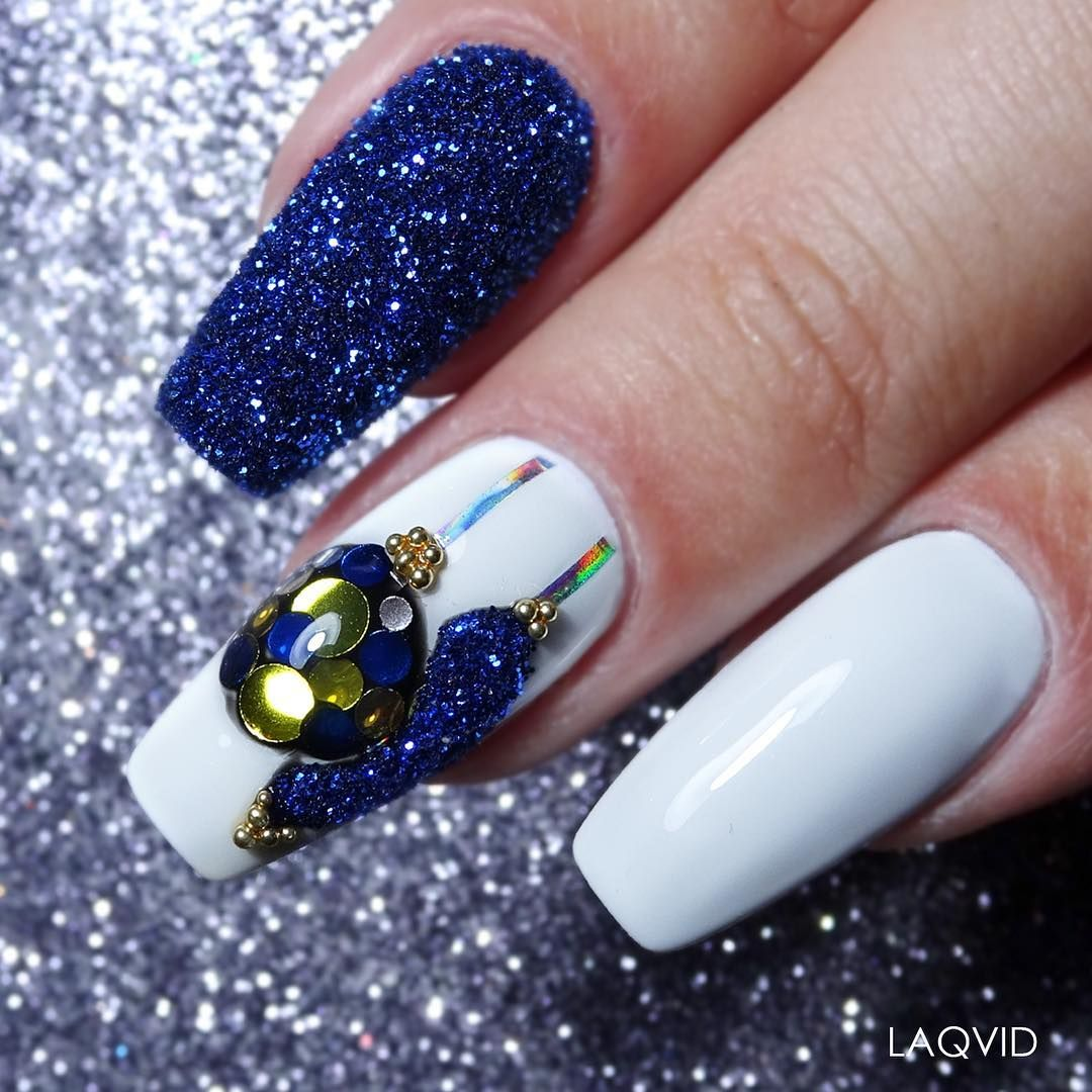 awesome christmas nail art to glam your party rock star nails