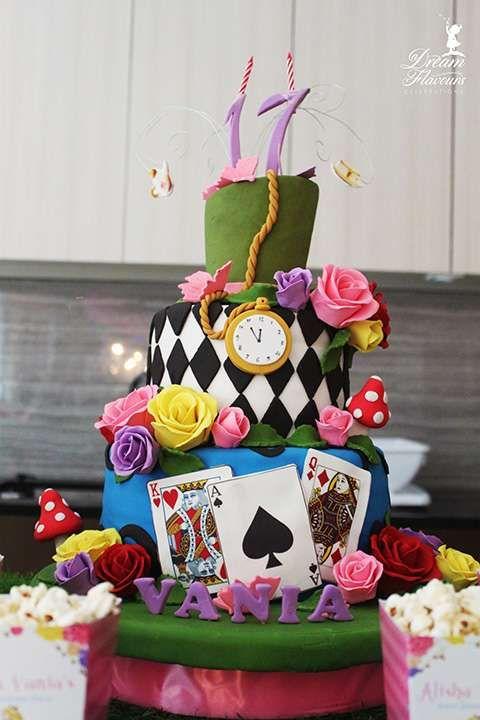 Alice In Wonderland Birthday Party Ideas Photo 5 Of 14 Alice In Wonderland Cakes Alice In Wonderland Tea Party Alice In Wonderland Birthday