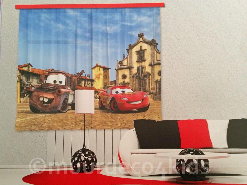 cars fotoprint gordijnen prachtige kwaliteit geschikt voor een raam van max 175 cm breed