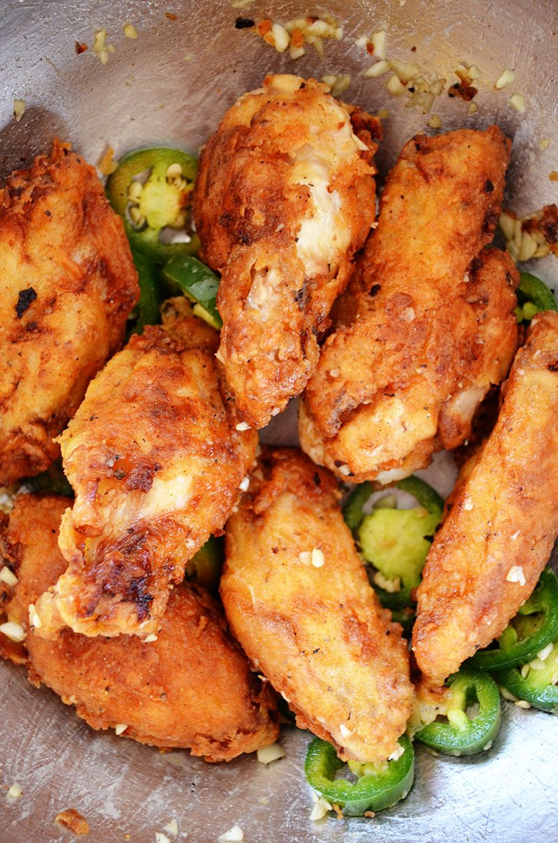 Buttermilk Fried Chicken Wings With Jalapeno And Garlic Recipe Chicken Wings Chicken Wing Recipes Chicken