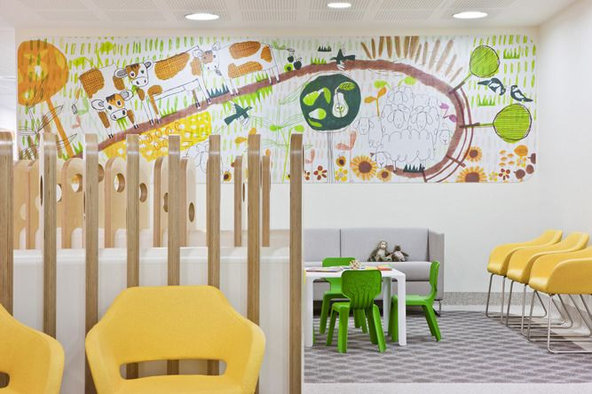 Earth Scene Level 1, The Royal Children's Hospital: Wayfinding strategy by Buro North with illustrations by Jane Reiseger. See more at jackywinter.com