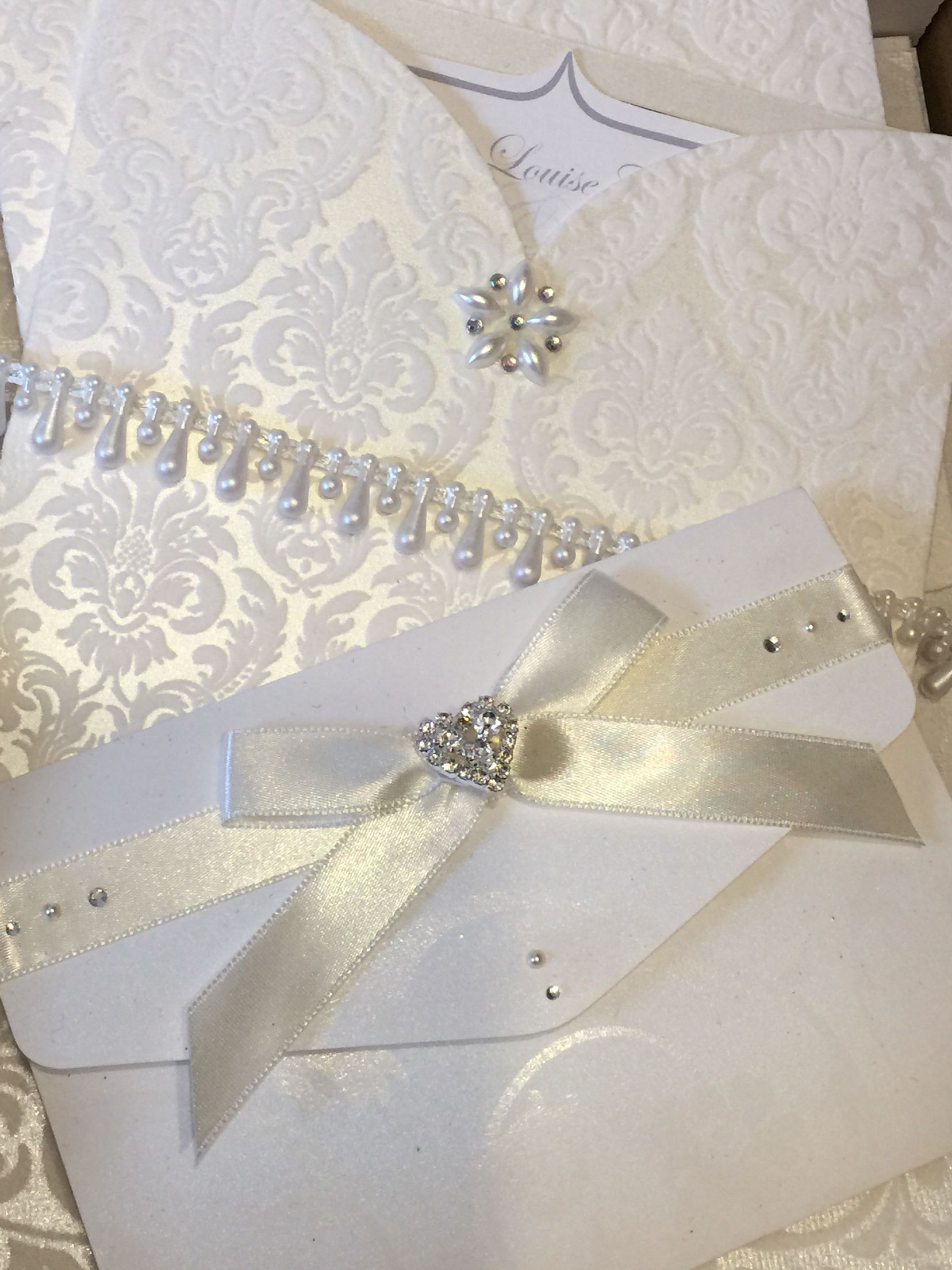 Ivory flock wedding invitation pocket. Indian wedding invitations ...