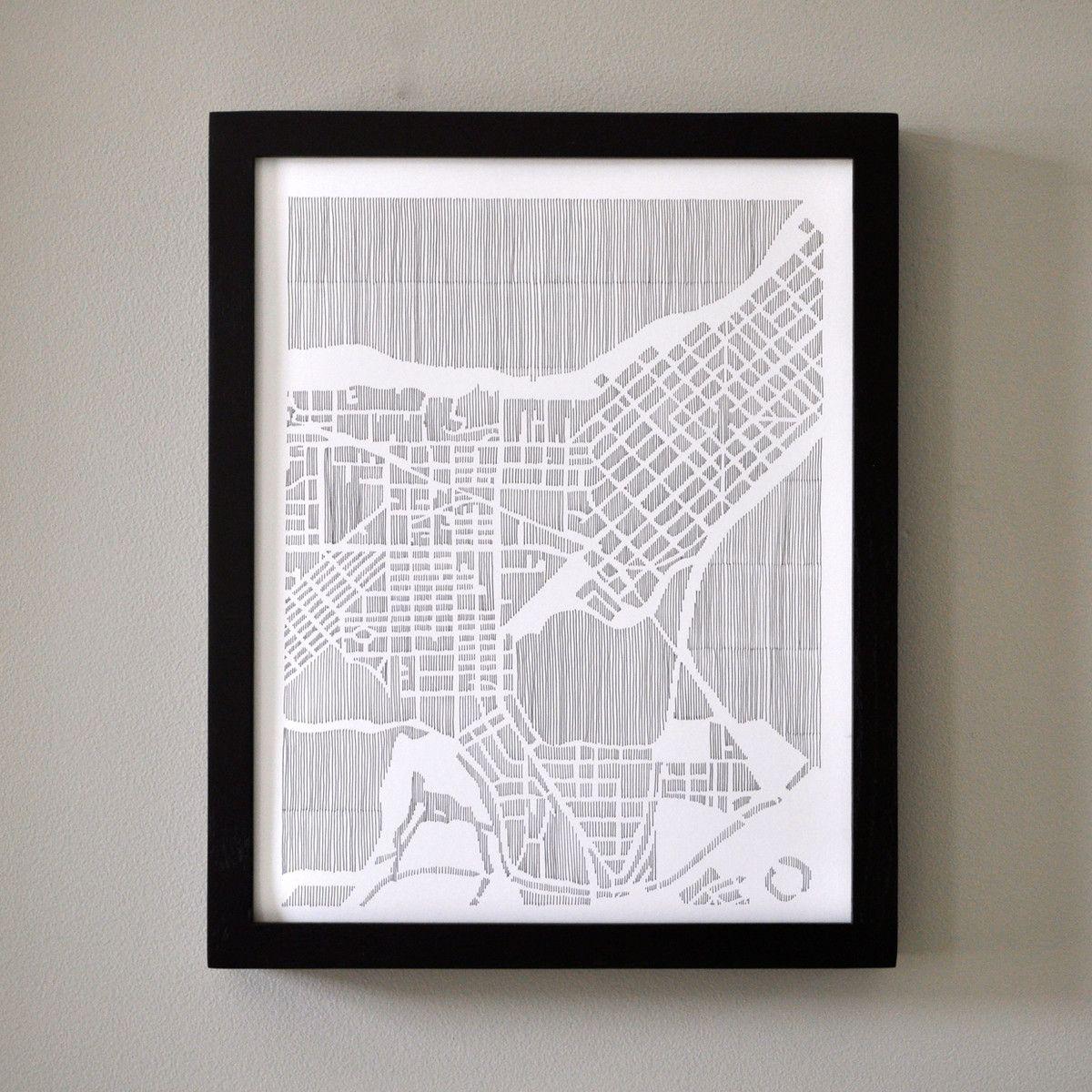 22 Fab Com Madison City Print Atlanta Map Pinterest City Print