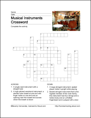 Learn about Musical Instruments with Free Printables ...