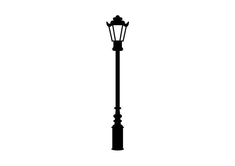 Retro Street Lamp Vector Street Lamp Lamp Art Clipart