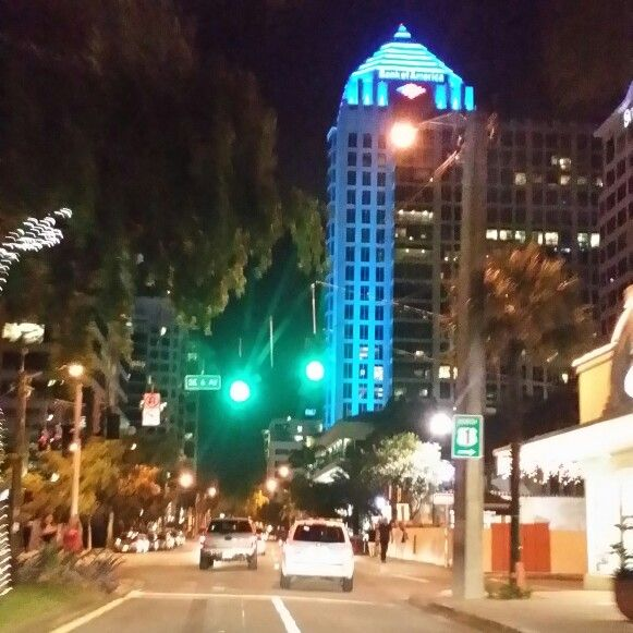 Miami Florida Nightlife: A Beautiful Evening In Downtown Fort Lauderdale, FL On Las