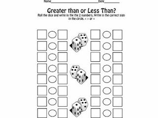 Greater than or Less than? print out. The Lesson Plan Diva