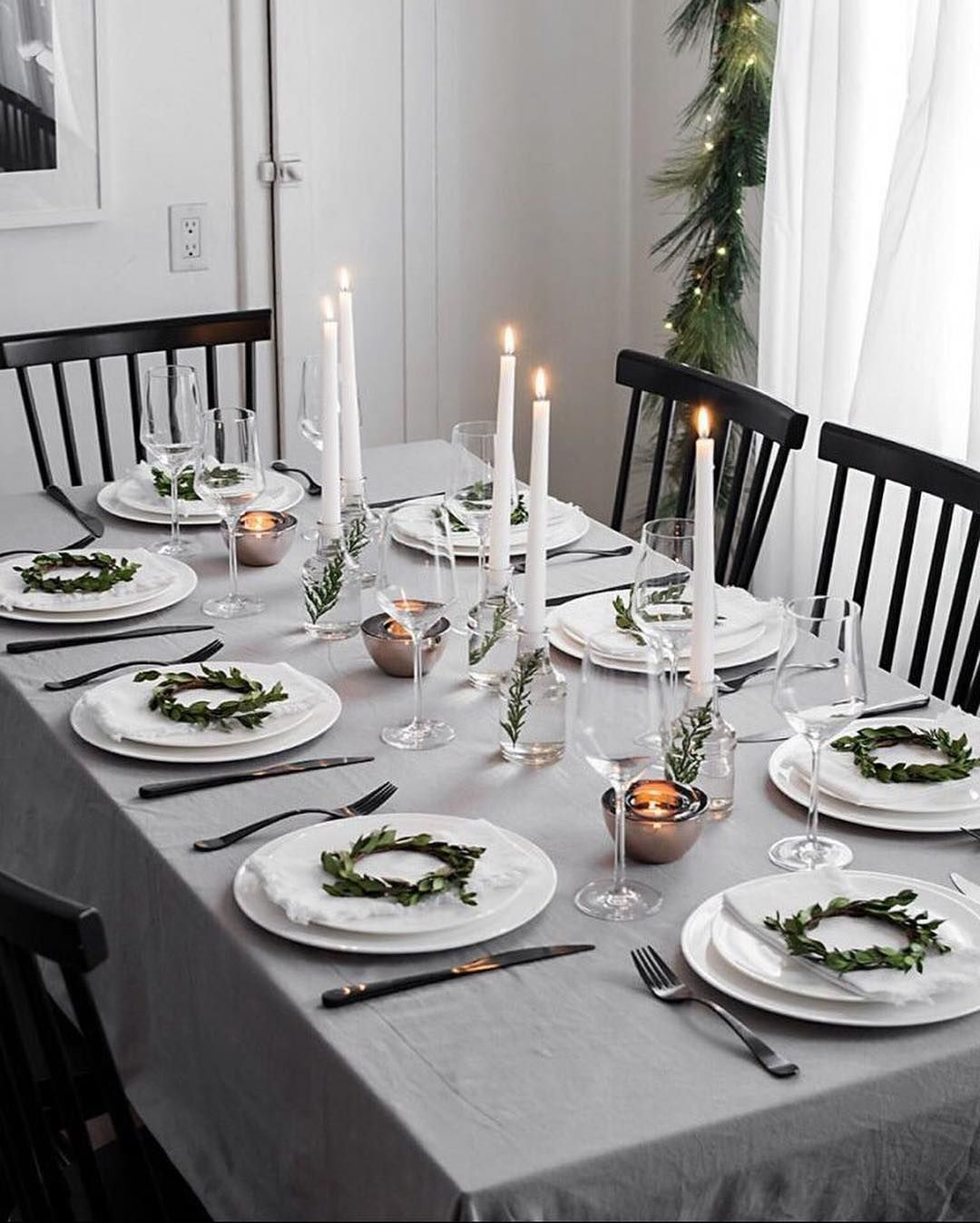 Bed Bath Beyond On Instagram This Modern Christmas Tablescape By Homeyohmy Is The P Christmas Dinner Table Holiday Table Decorations Christmas Party Table