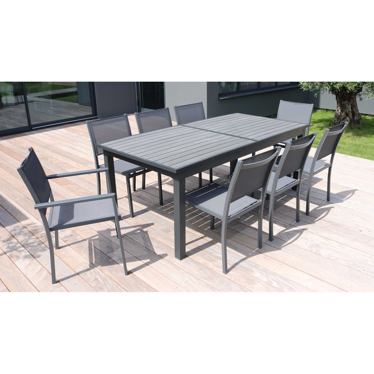 Table De Jardin Extensible 10 Places Aluminium Et Polywood Nice In 2020