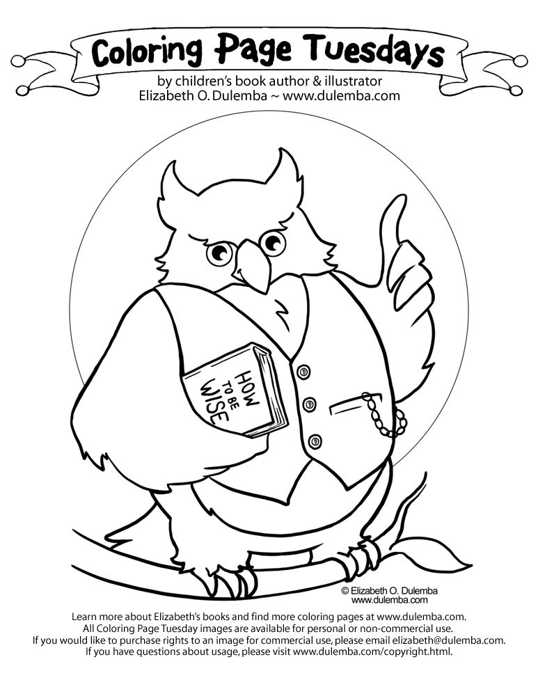 owl coloring pages free printables | Every wise owl knows, reading ...