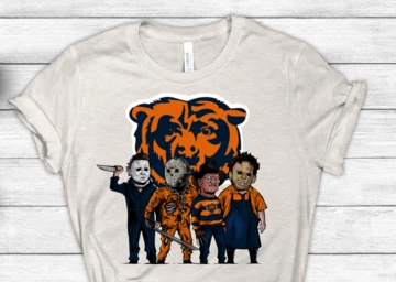Chicago Bears Halloween Horror Crew Football Sublimation