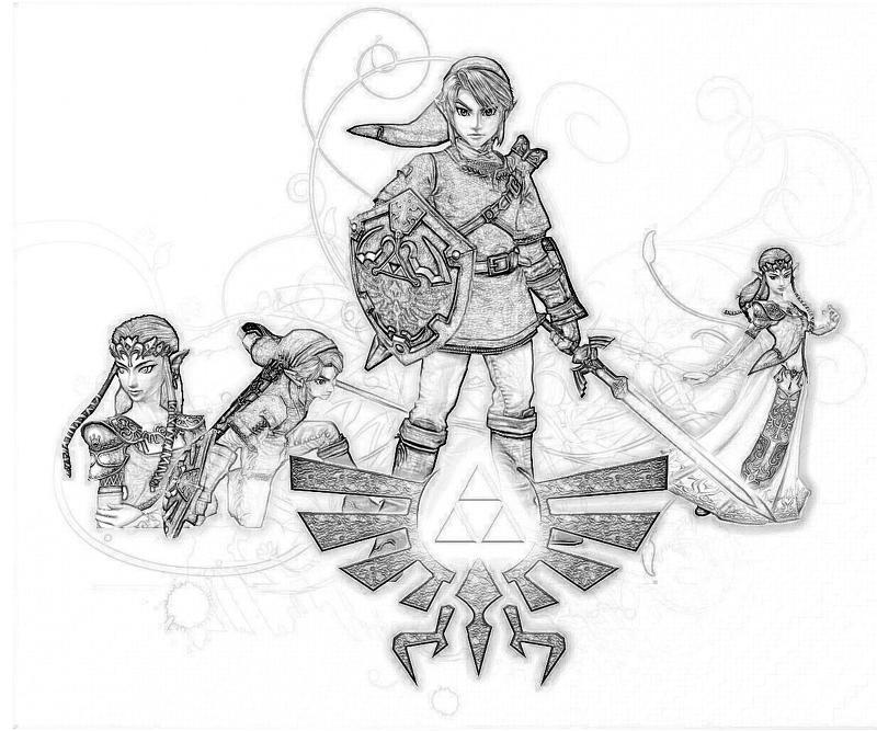Image result for Zelda coloring pages