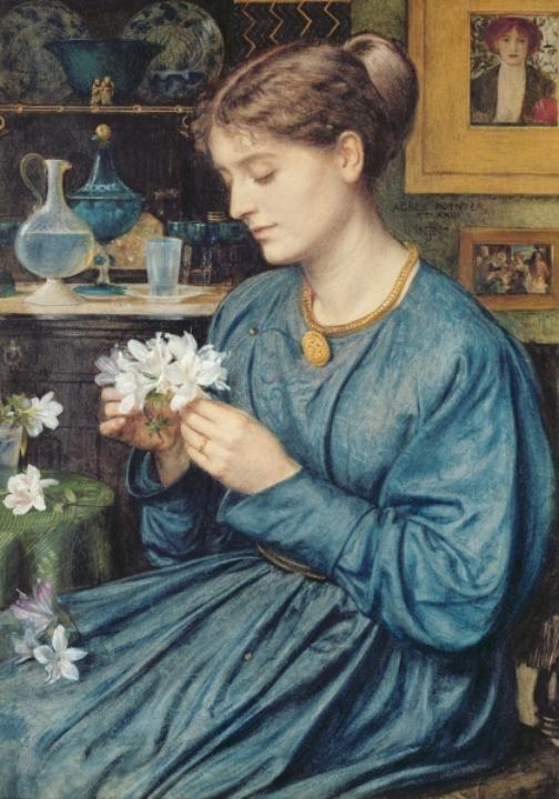 Portrait of Agnes Poynter (1867) by Sir Edward John Poynter