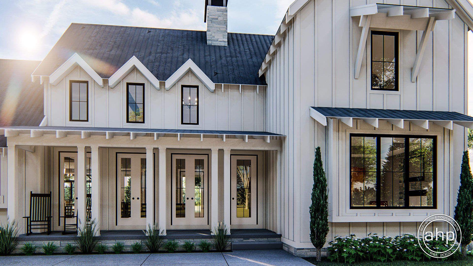 1 1/2 Story Modern Farmhouse House Plan Summerfield in