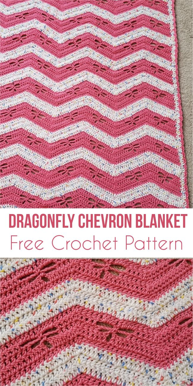 Easy Dragonfly Chevron Blanket - Free Pattern | Pinterest | Häkeln ...