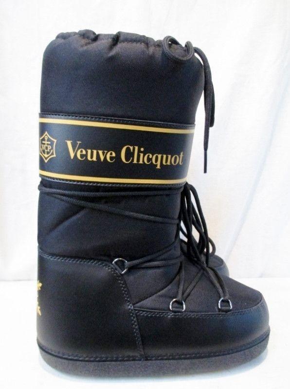 Fonkelnieuw NEW Womens VEUVE CLICQUOT Puffy Waterproof MOON Boots 35-37 BLACK EP-34