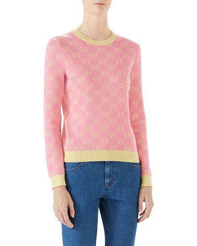 21b4fb778 GUCCI GG JACQUARD WOOL SWEATER. #gucci #cloth # | Gucci | Wool ...