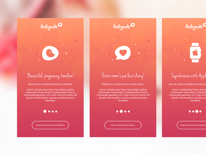 Babynoteapp Png By Diana Wieczorek App App Design App Layout